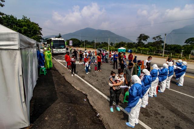 Punto de control sanitario frontera colombo venezolano