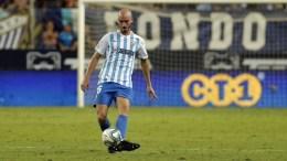 Mikel Villanueva con el Málaga CF