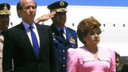 Blanca de Pérez acompaña a su esposo Carlos Andrés Pérez