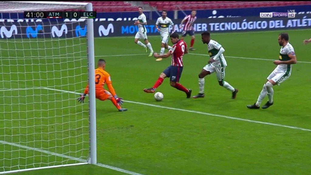 Atlético de Madrid contra Elche La Liga