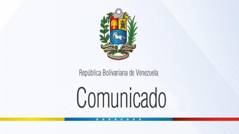 Cancillería venezolana comunicado portada