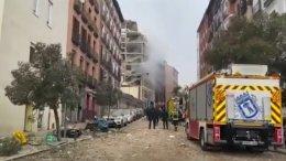 Explosión en edificio del centro de Madrid