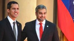 Presidente paraguayo Abdó y Juan Guaidó