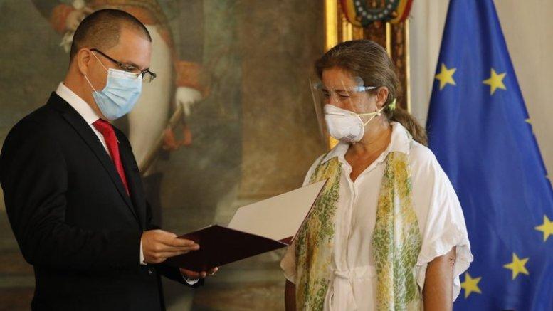 Jorge Arreaza y la Embajadora de la UE