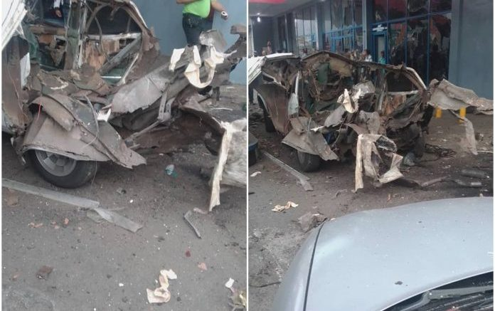 Explota vehículo a gas en Barquisimeto