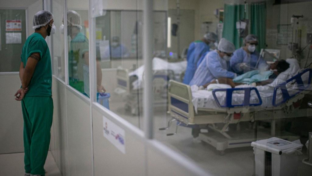 UCI en Brasil atención a pacientes de Coronavirus