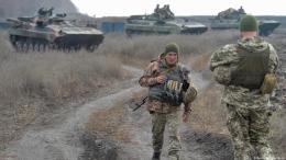 Tropas rebeldes en Donbass