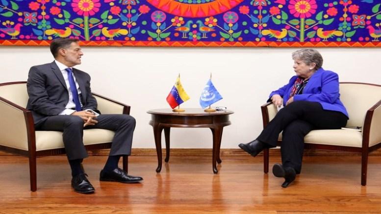 Canciller venezolano y Secretaria Ejecutiva de la Cepal