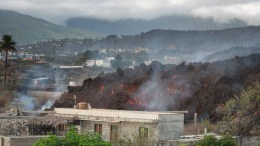 Todoque bajo lava en La Palma