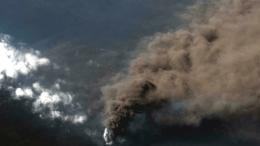 Cenizas del volcán Cumbre Vieja en la isla de La Palma, Canarias