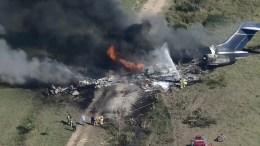 Avión siniestrado al despegar en Houston Texas