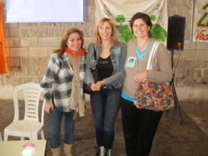 Alicia Avalos, la Dra Gladys Giannuzzi y Verónica Garnica