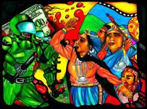 represion-mapuche-pintura