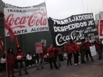 Trabajadores de FEMSA en lucha.