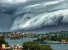 Impresionante nube con forma de Tsunami