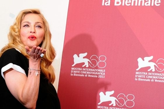 Madonna en Venecia, donde presentará como directora 'W.E'.