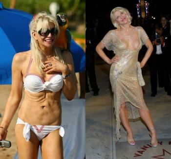 Photoshop4 - ¡Así lucen 10 famosas sin Photoshop y en bikini!