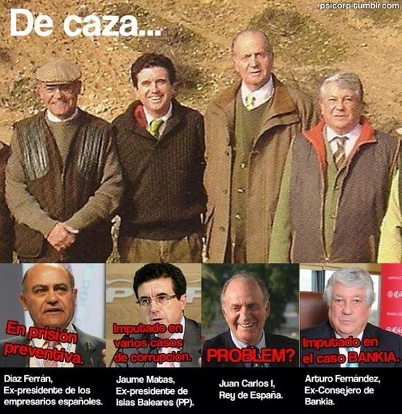 Imputados en casos de corrupción de caza con el Rey Juan Carlos