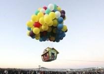 24f176e09fc7a1b1cc5b9ab7cda90f25 - #Video Vuela en una casa levantada por globos de helio como la de Pixar