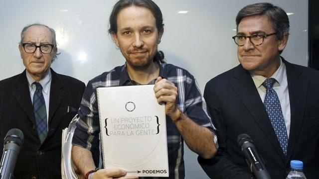 Vicenç Navarro, Pablo Iglesias y Juan Torres López