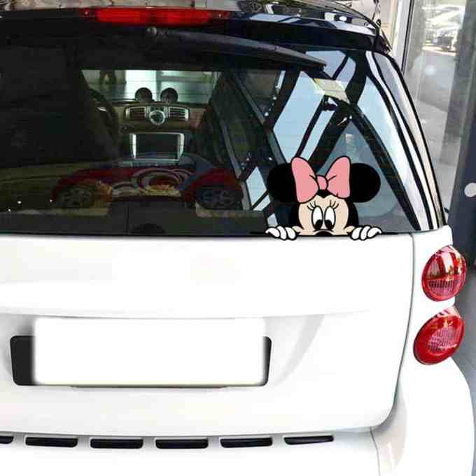 """Pegatinas para carro y coche """"Minnie Mouse"""""""
