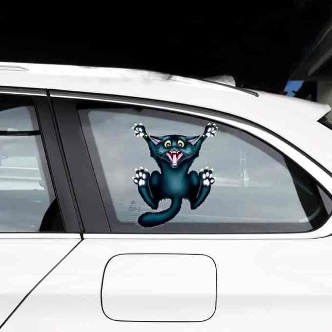"""Pegatinas para carro y coche """"Gatito Negro"""""""