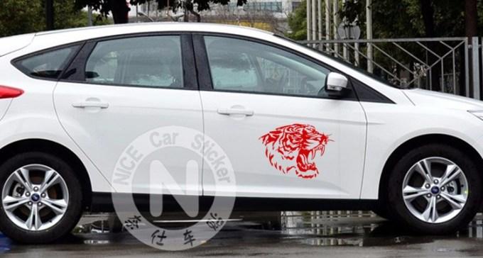 """Pegatinas para carro y coche """"tigre"""""""