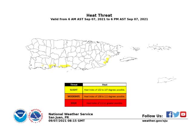 Índice de calor ronda los 107 grados en zonas de Puerto Rico