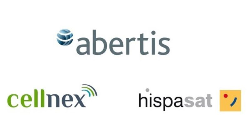 Logos Abertis Cellnex Hispasat