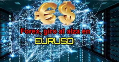 Forex, posible giro al alza en EURUSD