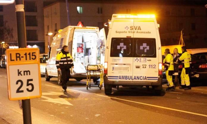 Imagen de archivo de recursos de emergencia asistiendo un atropello en Arnedo