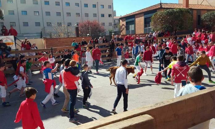Imagen del primer encierro chiqui de las Fiestas de San José de Arnedo 2017