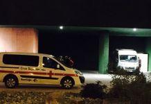 Recursos de Cruz Roja en el Arnedo Arena, junto al recinto ferial
