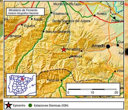 Un terremoto en Munilla se siente en Arnedo y otros municipios de Valle del Cidacos