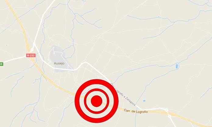 Zona del Accidente en la N232 (Ausejo)