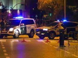 Guardia Civil y Policía Local en el entorno del Arnedo Arena durante un Operativo de Seguridad