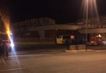 Bomberos del CEIS en la Estación de Autobuses de Arnedo