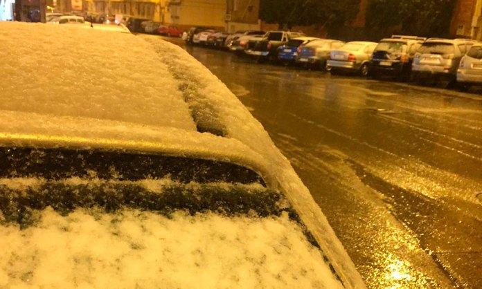 Nieva sobre Arnedo