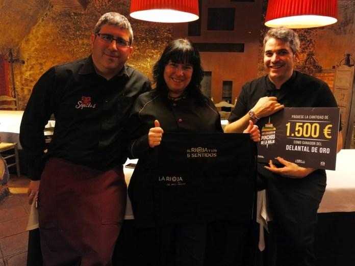 Alberto Eguizabal, Susana Eguizabal y Jesús Martinez, de Restaurante Sopitas, en una foto publicada en Facebook