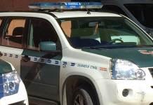 Vehículo de la Guardia Civil en Arnedo