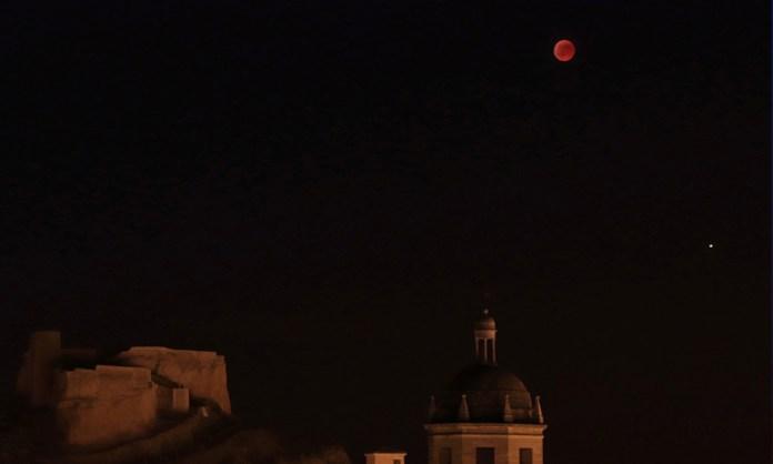 El eclipse lunar más largo del siglo visto en Arnedo