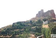 Aspecto actual del Castillo de Arnedo y una de sus laderas (Agosto de 2018)