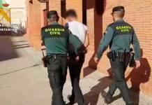 Uno de los tres detenidos en Arnedo por la Guardia Civil en el Juzgado de Calahorra