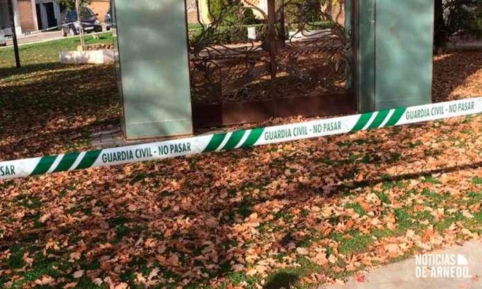 Zona acordonada por la Guardia Civil en Arnedo