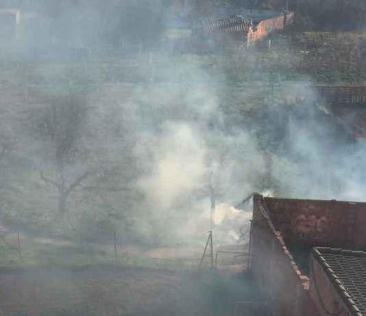 Zona agraria donde se ha declarado el incendio agrario junto a la Avenida Benidorm de Arnedo