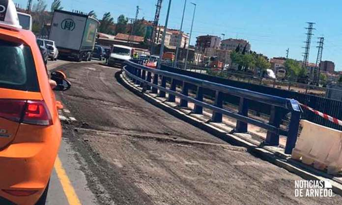 Acceso en obras a Calahorra por la LR-134 desde Arnedo