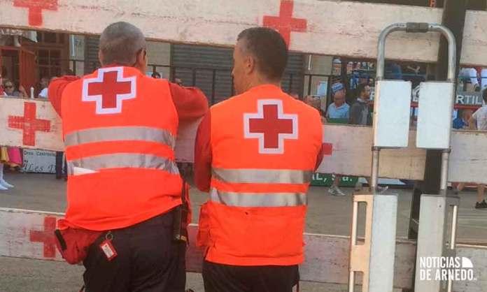 Voluntarios de Cruz Roja cubren de manera preventiva los encierros de Arnedo