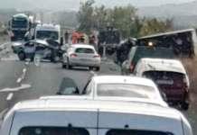 Accidente en la N-232 (Corera) | Imagen difundida por Redes sociales. Autor de la imagen: desconocido