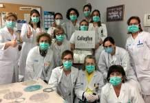 Durante la primera oleada de la pandemia, los sanitarios recibieron donaciones de Callaghan