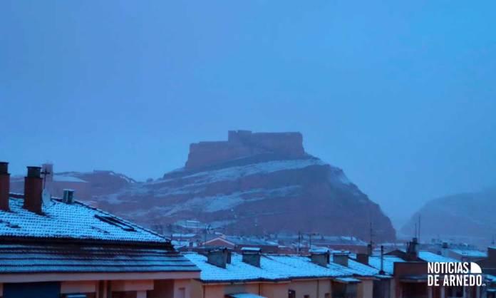 Nieve sobre Arnedo en marzo de 2020   Imagen: A.Y.